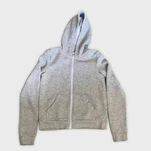 H & m grey zip up hoodie